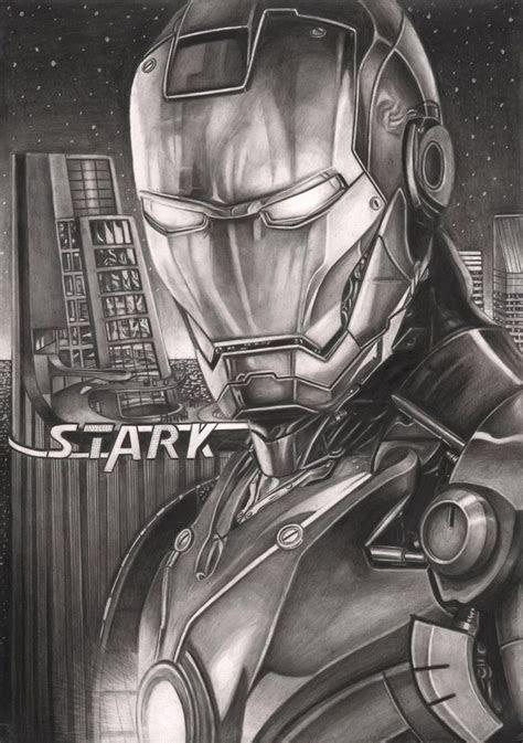 iron man graphite drawing   tacular artist