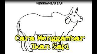 Download Sketsa Gambar Sapi Lucu