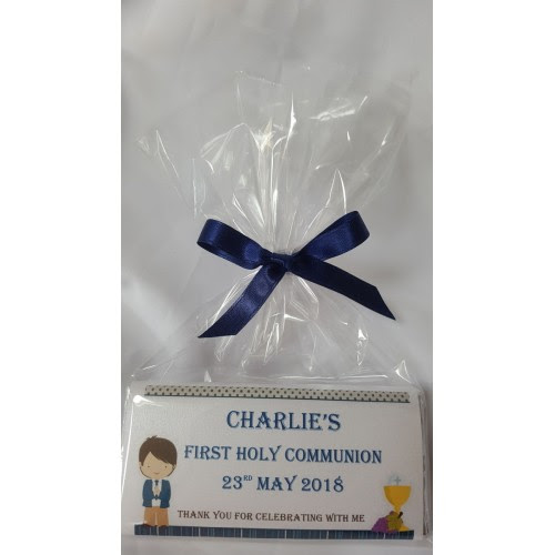 Holy Communion Boy Personalised Chocolate Bar With Frame Bbbonbon