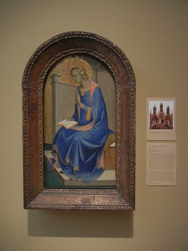 DSCN7685 _ Virgin Annunciate, c 1410-15, Pieto di Giovanni, called Lorenzo Monaco (c. 1370-1414), Norton Simon Museum, July 2013