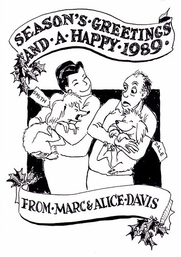 Marc Davis Christmas Card - 1988