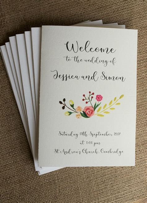 Pin by Amy on Twine & Bow   Wedding order of service