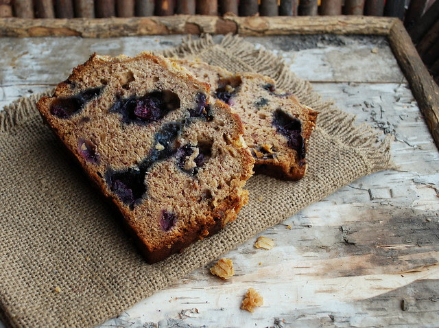 Blueberry Banana Bread sliced