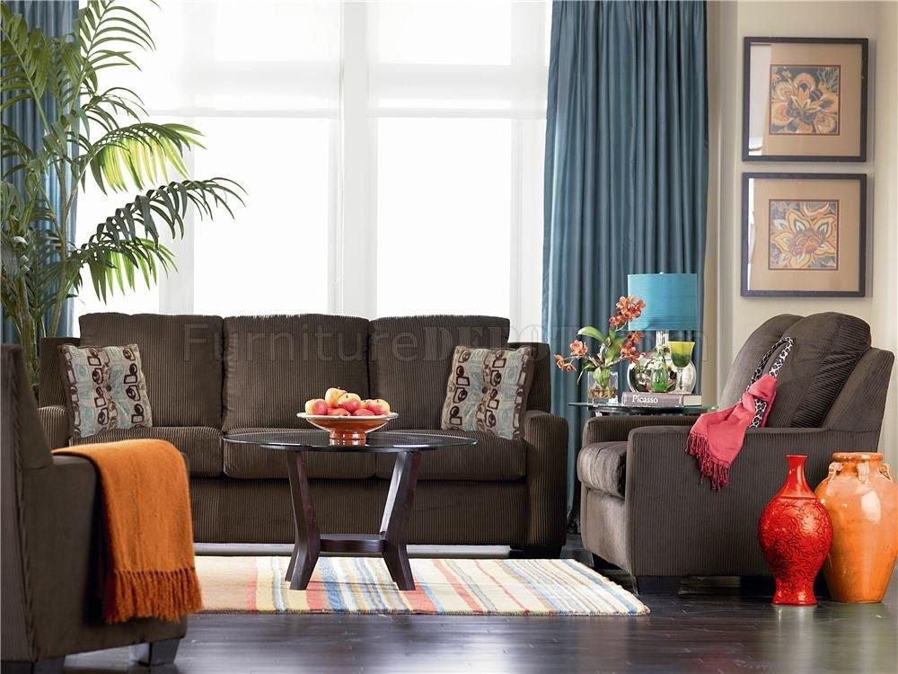 Chenille Contemporary Living Room Charleston U535 ...
