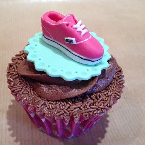 Pink Vans Shoe Cupcake