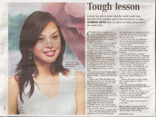Carmen Soo and KURUS featured in New Straits Times