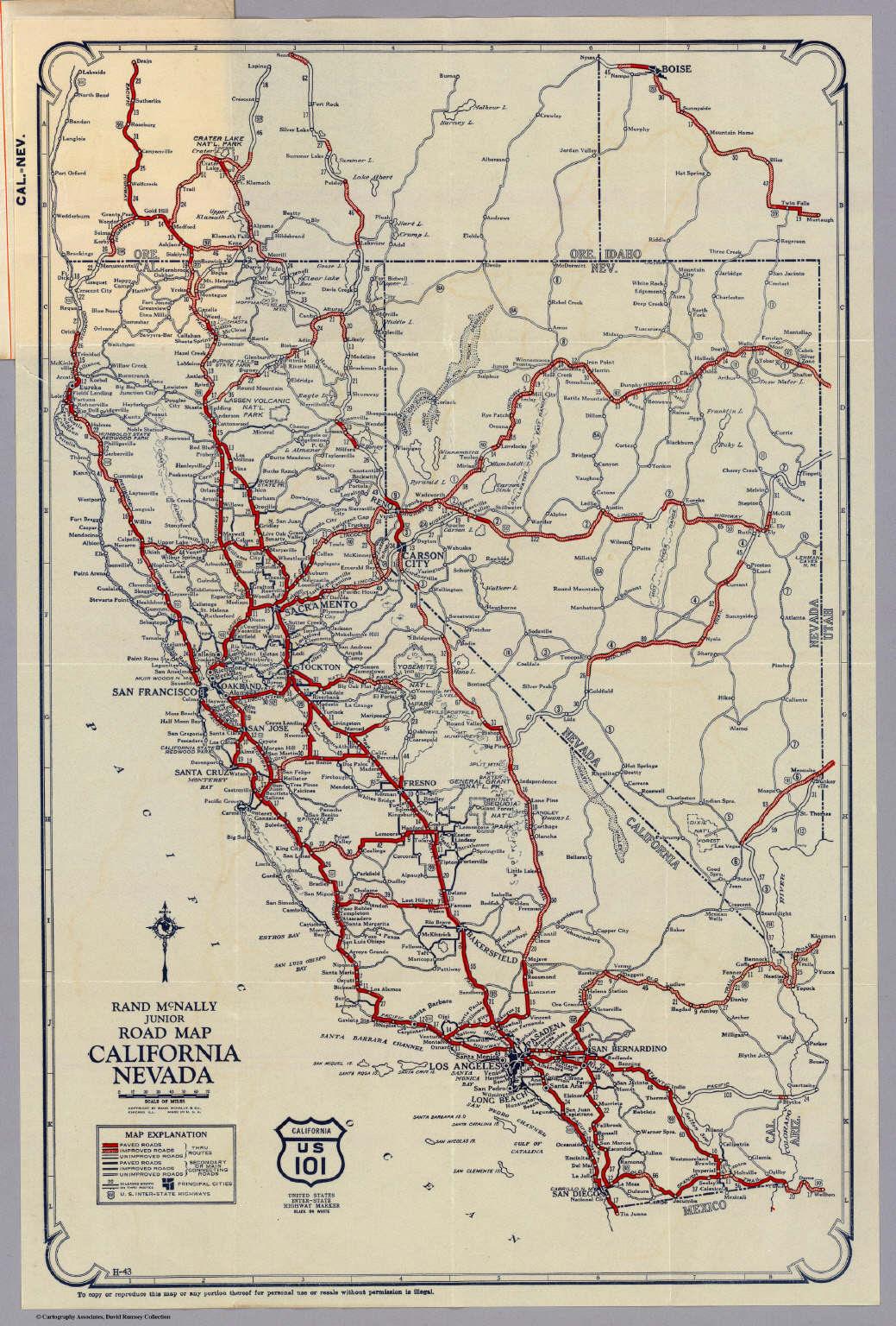 Nevada California Map