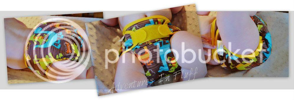 Swaddlebees Capri Diaper Cover Views (Dino)