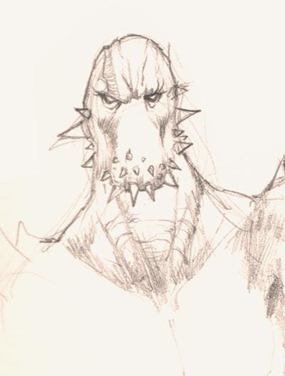 mutant humanoid creature character design
