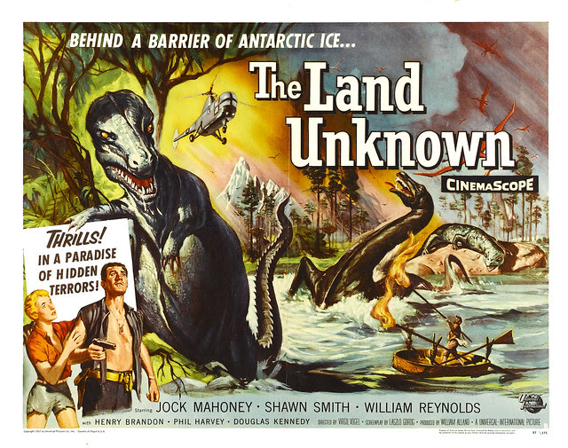 Reynold Brown - The Land Unknown (Universal International, 1957) Half Sheet 1