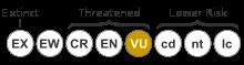 Status iucn2.3 VU.svg