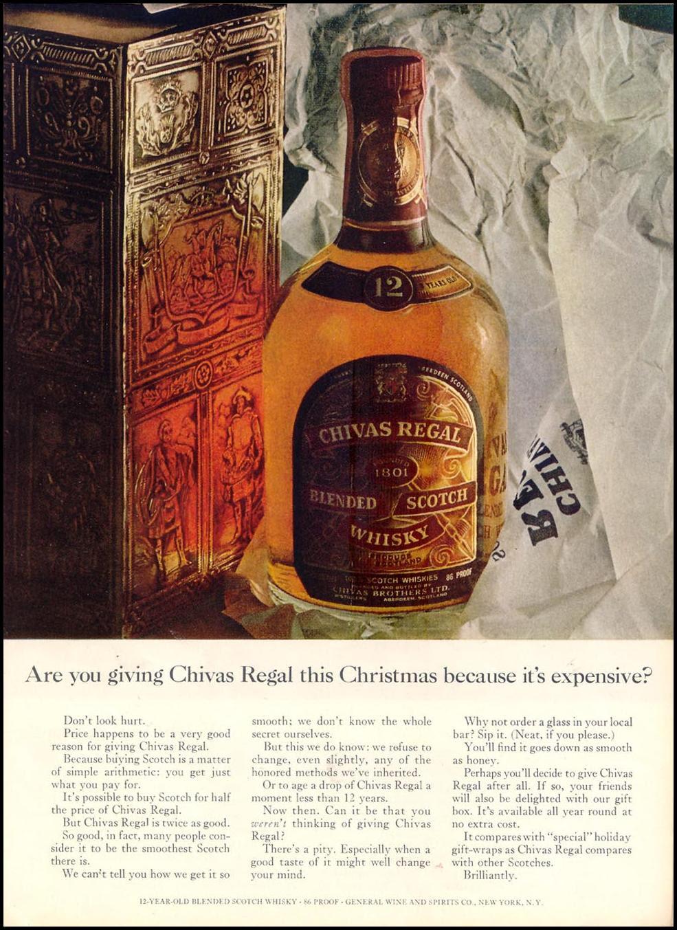 CHIVAS REGAL BLENDED  SCOTCH WHISKEY TIME 12/07/1962 p. 61