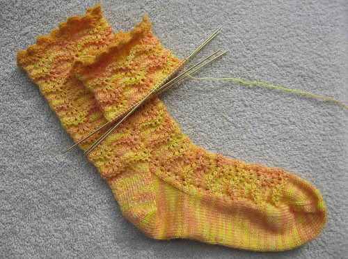 Kaibashira 2nd sock, daylight