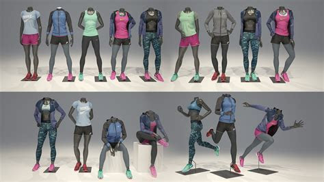 Female mannequin Nike FULL PACK ~ People Models ~ Creative