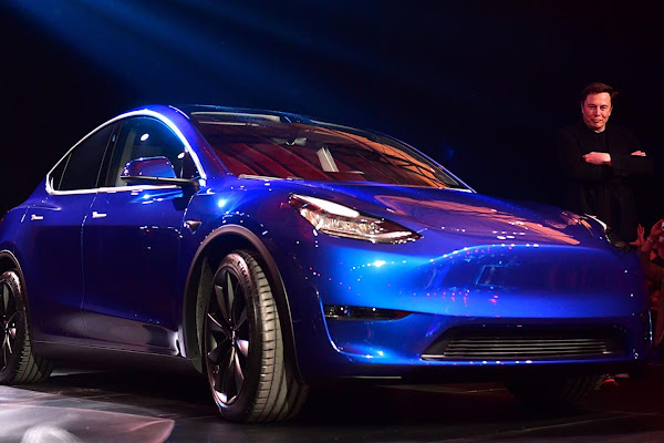 new products c0901 df7e3 Tesla Model Y debuts in California with  39,000 base price