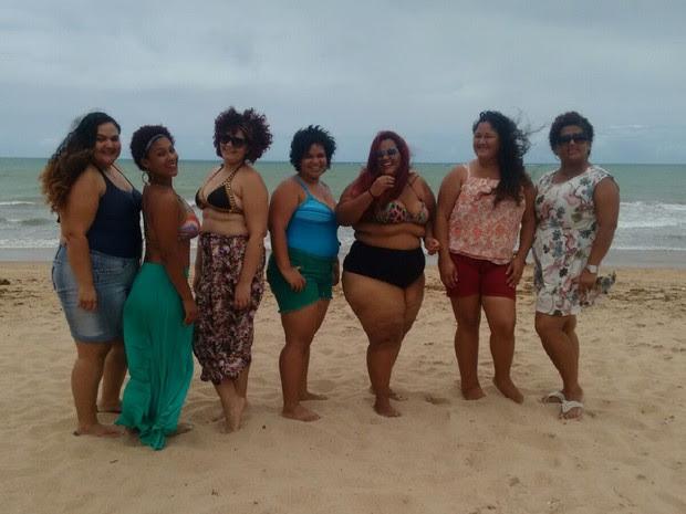 Evento Vai Ter Gorda na Praia ocorre neste domingo na praia de Jatiúca, em Maceió (Foto: Marcio Chagas/G1)