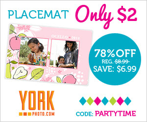 Custom Photo Placemat – Only $2 – Save $6.99!