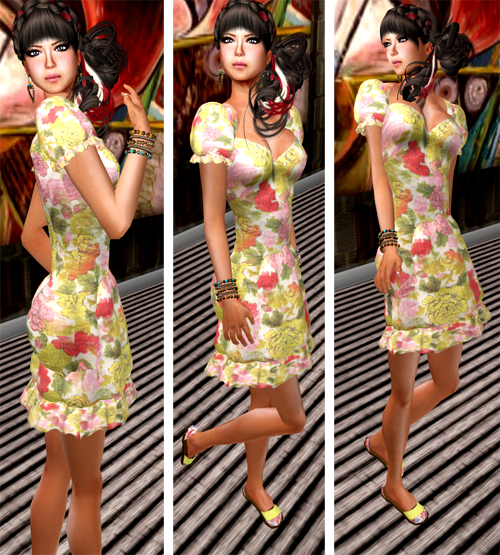 NEW! SHIKI-floral dress ENGLISH GARDEN