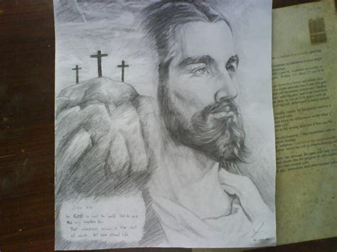 drawing jesus christ  itanimationstudio  deviantart