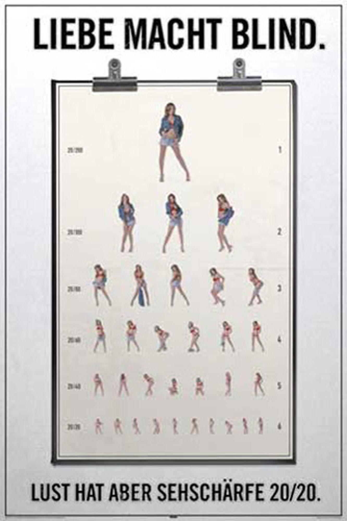 Fun Liebe Macht Blind Poster 61x91 5