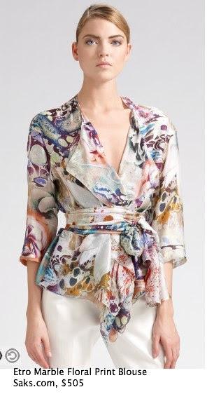 Saks.com - Etro - Marble Floral-Print Blouse