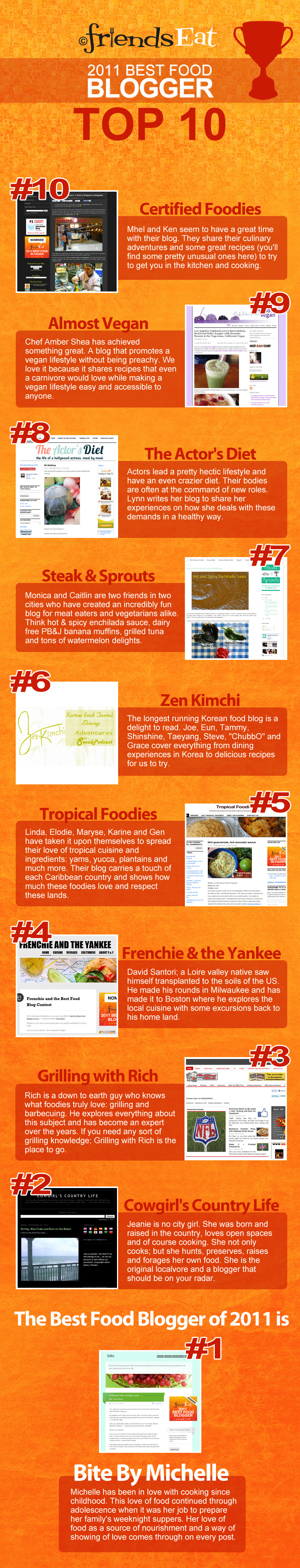 top 10 food bloggers 2011 Best Food Blogger