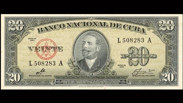 Billete de 20 pesos con la firma del Che