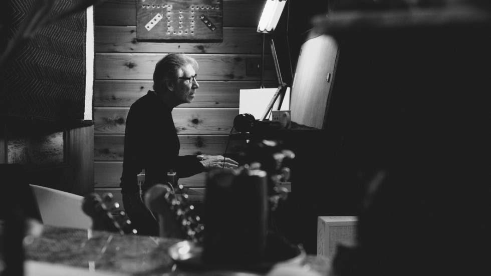 Roger Waters na gravação do disco