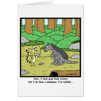 Ticklish: Armadillo Cartoon Greeting Card