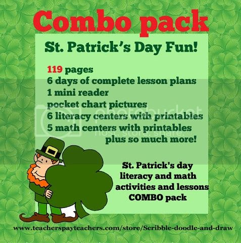St. Patrick's day lesson plans and center activities