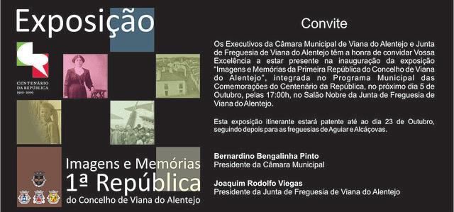 Imagens e memórias da !.ª República em Viana do Alenetjo