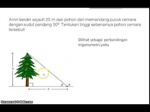 contoh soal cerita trigonometri