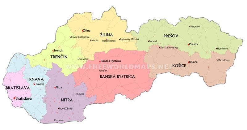 Slovakia Maps By Freeworldmaps Net