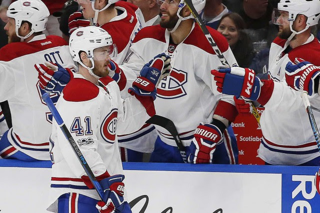 Paul Byron (41) a marqué deux buts dans... (Photo Perry Nelson, USA Today Sports)