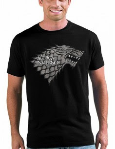 Camiseta Juego de tronos Casa Stark manga corta