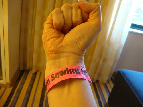 Yes, I'm tough with my American Sewing Expo wristband