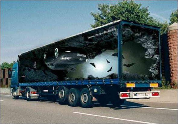 truck ad designs 17 in Funny 3D Truck Ad Designs