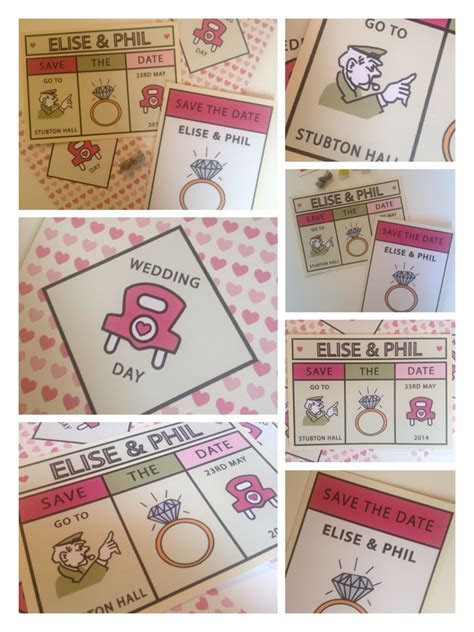 Monopoly inspired Save the date invitations from Mad
