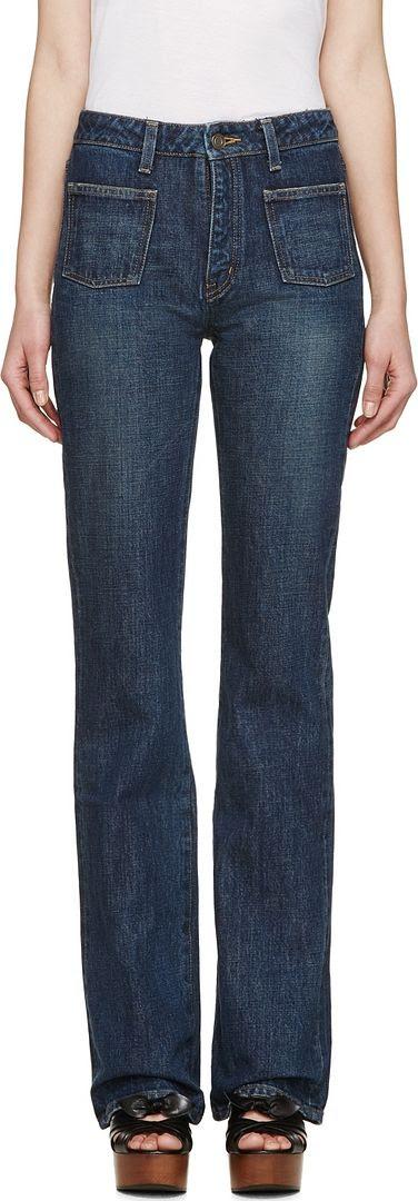 Saint Laurent Blue Flared Jeans