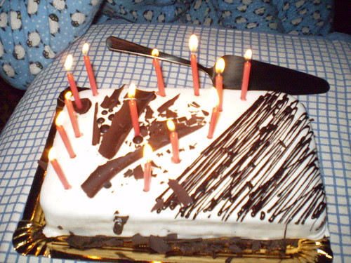 B birthday cake