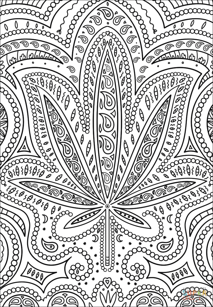 Weed - Free Colouring Pages