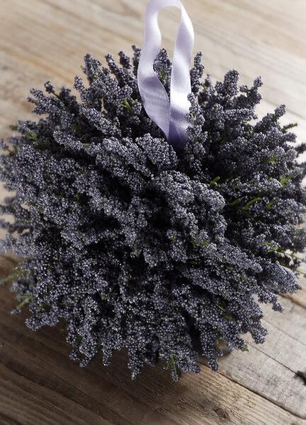 Large 7\u0026quot; Lavender Pomander Silk Flower Ball