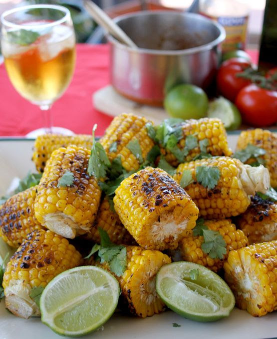 Grilled Corn with Spicy Butter and Lime
