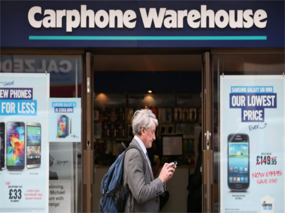 Carphone Warewhouse Reports Consumers Spending Is Record High