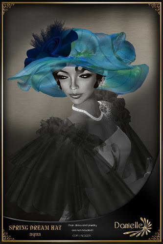 DANIELLE Spring Dream Hat Aqua