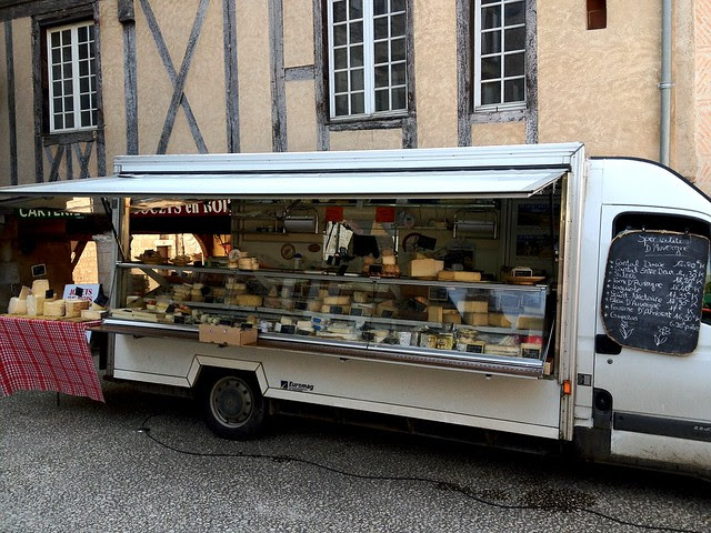 Cheese Truck at the Market in Monflanquin