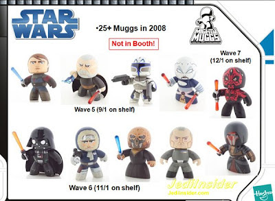 SDCC - Star Wars Mighty Muggs Wave 6 and 7 - Wave 6: Darth Vader, Han Solo in Hoth Gear, Plo Koon & Grand Moff Tarkin - Wave 7: Shirtless Darth Maul & Darth Revan