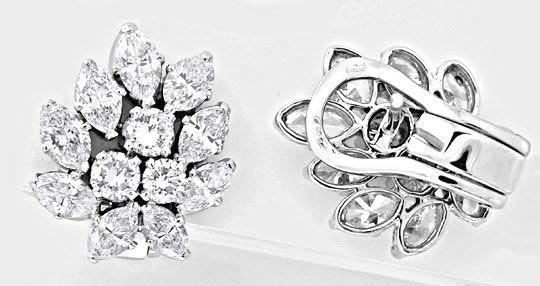 Foto 1, Einmalige Diamantohrringe 5,73ct Handarbeit Schmuck Neu, S8623