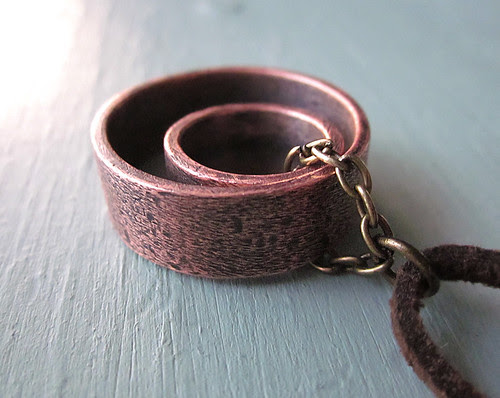 Copper Rings Necklace