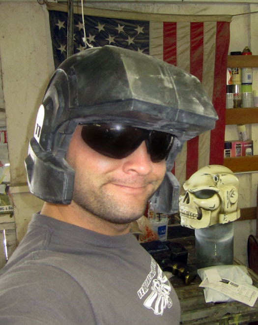 Marine Helmet Test Fit 1